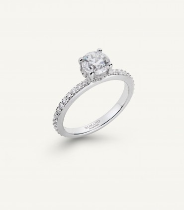 ANELLO ROMANTIC CASTEL fila brillanti 1.25 ct