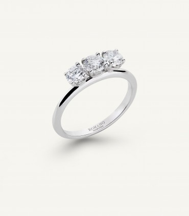 ANELLO ROMANTIC CASTEL trilogy 1.00 ct