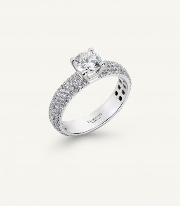 PHILOSOPHY SOLITAIRE RING full pavé 1.71 ct