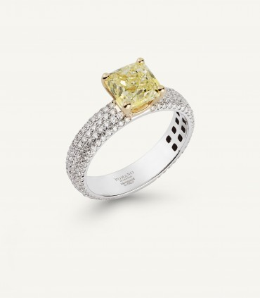 PHILOSOPHY SOLITAIRE RING full pavé 2.92 ct