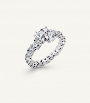 QUINLOGY RING full pavé 3.20 ct