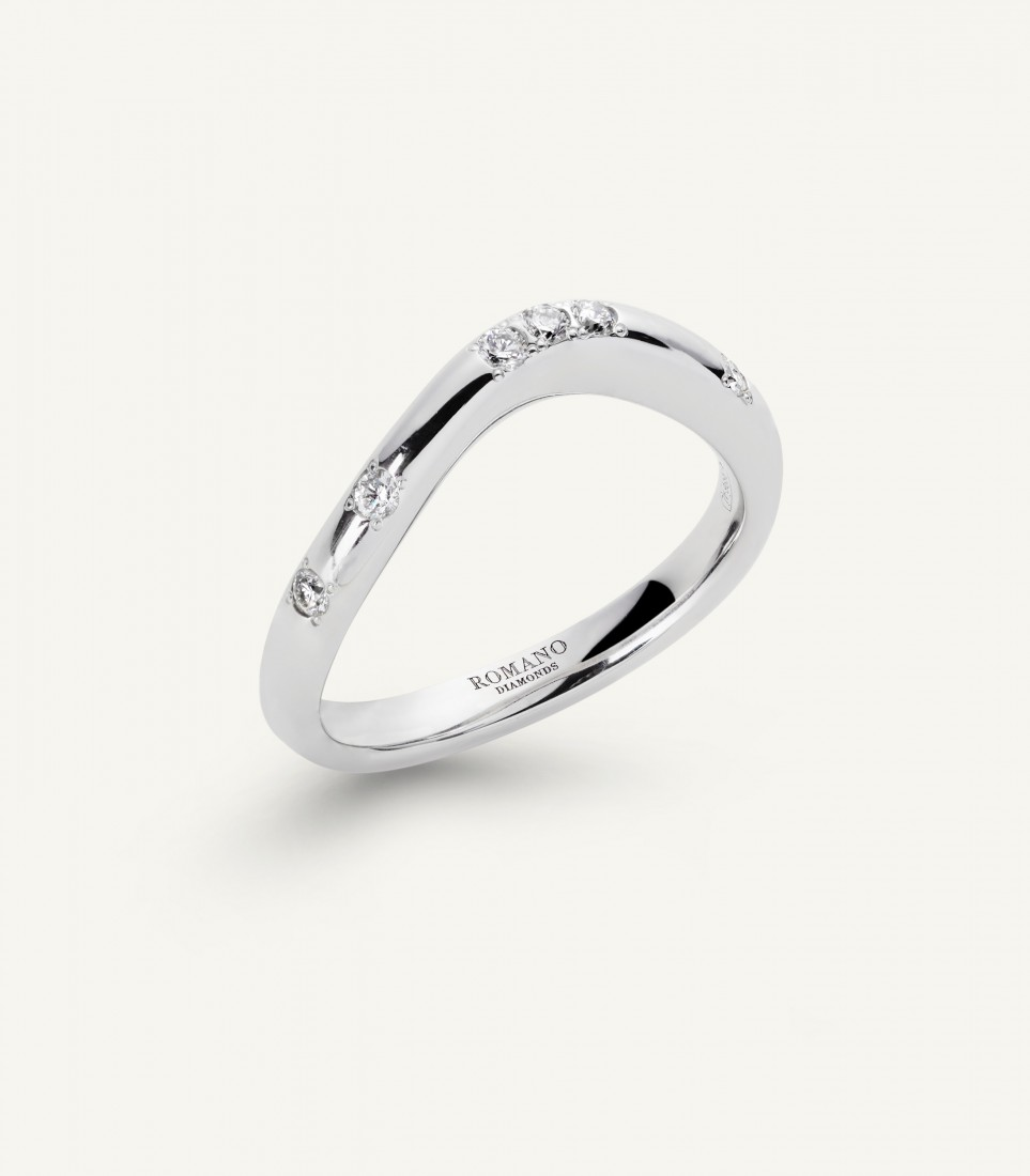 ANELLO FIDELITY wave 0.15 ct